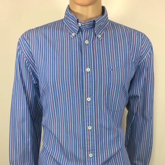 6f0c98b67 Tommy Hilfiger Shirts | Mens Shirt 80s 2 Ply Sz Lg Classi | Poshmark